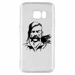 Чехол для Samsung S7 Лице українського козака - FatLine