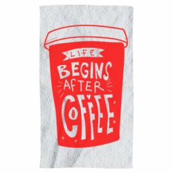 Рушник Life begins after coffee