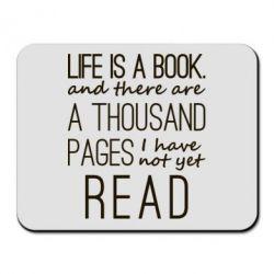Купить Коврик для мыши Life is a book, FatLine