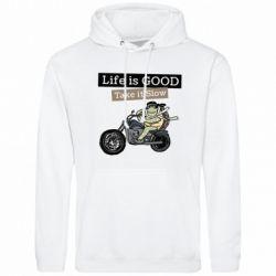 Чоловіча толстовка Life is good, take it show