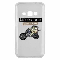 Чохол для Samsung J1 2016 Life is good, take it show