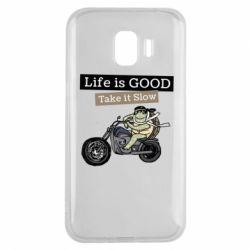 Чохол для Samsung J2 2018 Life is good, take it show