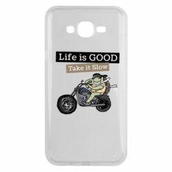 Чохол для Samsung J7 2015 Life is good, take it show