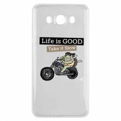Чохол для Samsung J7 2016 Life is good, take it show