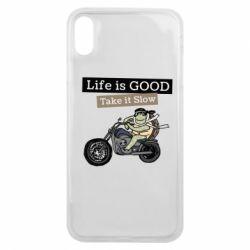 Чохол для iPhone Xs Max Life is good, take it show