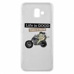 Чохол для Samsung J6 Plus 2018 Life is good, take it show