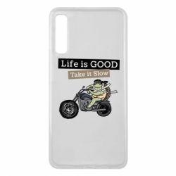 Чохол для Samsung A7 2018 Life is good, take it show