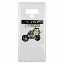 Чохол для Samsung Note 9 Life is good, take it show