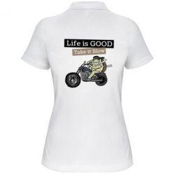 Жіноча футболка поло Life is good, take it show