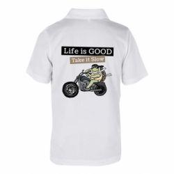 Дитяча футболка поло Life is good, take it show