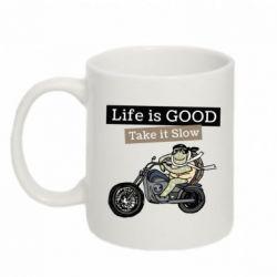 Кружка 320ml Life is good, take it show