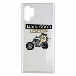 Чохол для Samsung Note 10 Plus Life is good, take it show