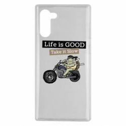 Чохол для Samsung Note 10 Life is good, take it show