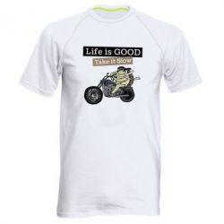 Чоловіча спортивна футболка Life is good, take it show