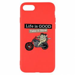 Чохол для iPhone 7 Life is good, take it show
