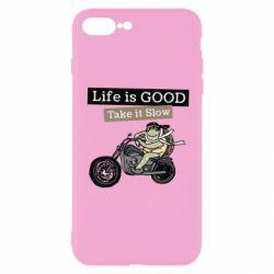 Чохол для iPhone 8 Plus Life is good, take it show