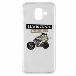 Чохол для Samsung A6 2018 Life is good, take it show