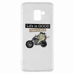 Чохол для Samsung A8+ 2018 Life is good, take it show