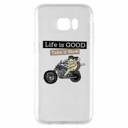 Чохол для Samsung S7 EDGE Life is good, take it show