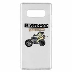 Чохол для Samsung Note 8 Life is good, take it show