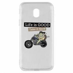 Чохол для Samsung J3 2017 Life is good, take it show