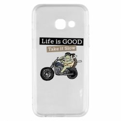 Чохол для Samsung A3 2017 Life is good, take it show
