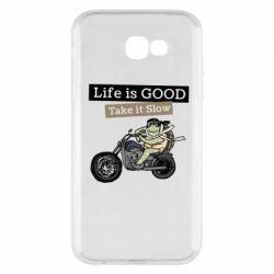 Чохол для Samsung A7 2017 Life is good, take it show