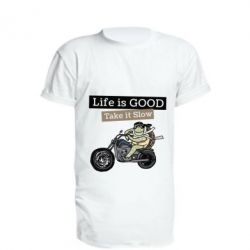 Подовжена футболка Life is good, take it show