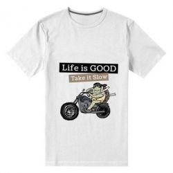 Чоловіча стрейчева футболка Life is good, take it show