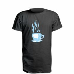 Удлиненная футболка Light blue cup of coffee