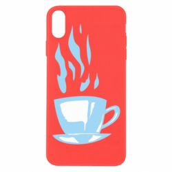 Чехол для iPhone Xs Max Light blue cup of coffee
