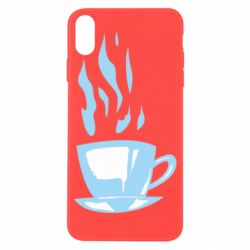 Чехол для iPhone X/Xs Light blue cup of coffee