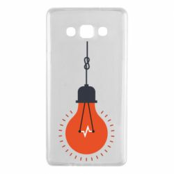 Чехол для Samsung A7 2015 Light bulb vector