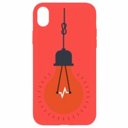 Чехол для iPhone XR Light bulb vector