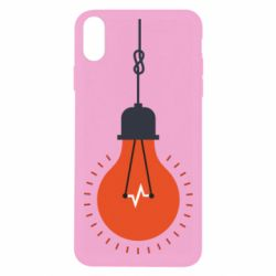 Чехол для iPhone Xs Max Light bulb vector