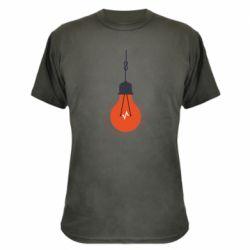 Камуфляжная футболка Light bulb vector