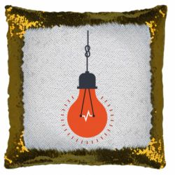 Подушка-хамелеон Light bulb vector