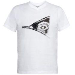 Чоловіча футболка з V-подібним вирізом Lightning and man