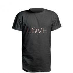 Подовжена футболка lil peep: love