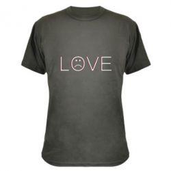 Камуфляжна футболка lil peep: love