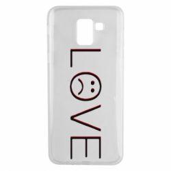 Чохол для Samsung J6 lil peep: love