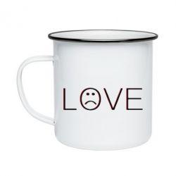 Кружка емальована lil peep: love