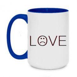Кружка двоколірна 420ml lil peep: love
