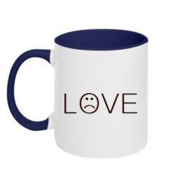 Кружка двоколірна 320ml lil peep: love