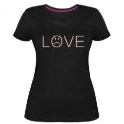 Жіноча стрейчева футболка lil peep: love