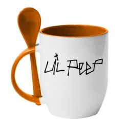 Кружка з керамічною ложкою Lil Peep