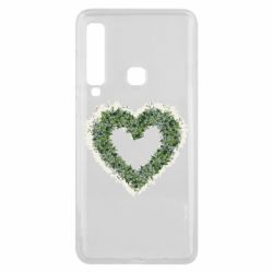 Чехол для Samsung A9 2018 Lilies of the valley in the shape of a heart