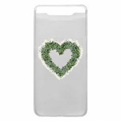 Чехол для Samsung A80 Lilies of the valley in the shape of a heart