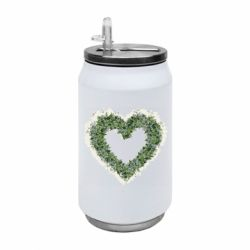 Термобанка 350ml Lilies of the valley in the shape of a heart