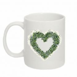 Кружка 320ml Lilies of the valley in the shape of a heart